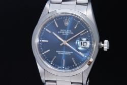 ロレックス 15200 オイスターパーペチュアルデイト ブルー文字盤 メンズ オートマ T番