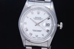 ロレックス 16200 デイトジャスト ホワイトローマ文字盤 メンズ オートマ T番【OH済】