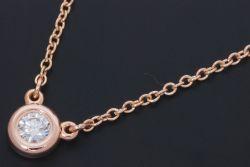 ティファニー ダイヤモンド バイザヤード ペンダント ネックレス K18RG ローズゴールド ダイヤ 0.10ct【美品】