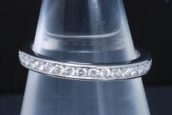 ティファニー フルサークル ダイヤモンド ウェディング バンドリング PT950 フルエタニティ フルダイヤ 7.5号【正規品・新品同様】