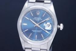 ロレックス 15200 オイスターパーペチュアルデイト ブルー文字盤 メンズ オートマ A番【正規品】