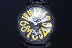 ガガミラノ 5016.2 マヌアーレ48mm リミテッドエディション 世界限定500本 メンズ PVD カーボン 手巻き
