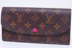 ヴィトン モノグラム ポルトフォイユ エミリー 二つ折長財布 ホットピンク M41943
