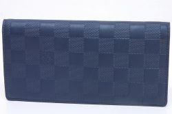 ヴィトン ダミエ アンフィニ ポルトフォイユ ブラザ 二つ折長財布 アストラル N63318 【未使用】