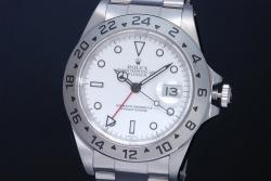 ロレックス エクスプローラー2  16570 白文字盤 メンズ GMT SS オートマ EX2 A番【OH済】