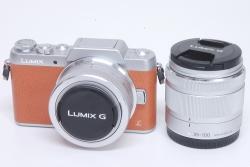 パナソニック LUMIX G DMC-GF7W-T ダブルズームレンズキット ミラーレス一眼カメラ ブラウン【新品同様】