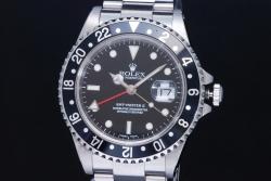 ロレックス 16710 オイスターパーペチュアルデイト GMTマスター2 メンズ SS オートマ 黒ベゼル K番【OH済】