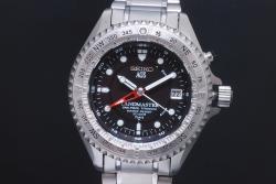 セイコー SBCW001 ランドマスター AGS キネティック メンズ チタン 5M45-6A00 オートクォーツ 黒文字盤