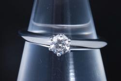 ティファニー ソリティア ダイヤモンド リング PT950 プラチナ ダイヤ0.20ct F-VVS2-3EX【ティファニー鑑定書付】