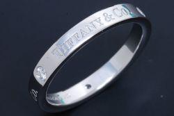 ティファニー 3Pダイヤモンド フラット バンドリング PT950 プラチナ ダイヤ0.07ct