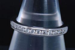 ティファニー ハーフサークル ダイヤモンド ウエディング バンドリング PT950 プラチナ ダイヤ0.24ct【新品同様】