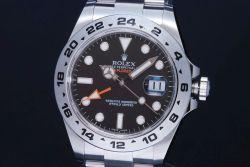 ロレックス 216570 オイスターパーペチュアル エクスプローラー2 GMT メンズ SS オートマ 黒文字盤 ランダム