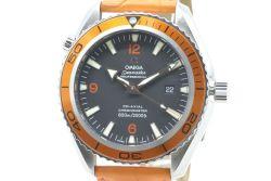 オメガ シーマスター600 プラネットオーシャン コーアクシャル 2908.50.38 メンズ SS/革 ダイバー オレンジ