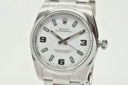 ロレックス 114200 オイスターパーペチュアル 34 メンズ SS オートマ ホワイト369 ランダム【正規品】