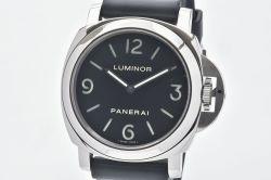 パネライ PAM00112 ルミノールベース 44mm メンズ SS/ラバー 手巻き 裏スケ 黒文字盤 K番