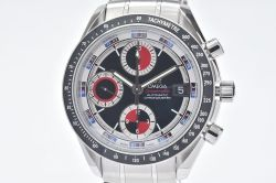 オメガ 3210.52 スピードマスター デイト オートマチック メンズ SS クロノグラフ 赤/黒 【OH済】
