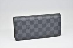ヴィトン ダミエ グラフィット ポルトフォイユ ブラザ 二つ折り長財布 N62665【新品】