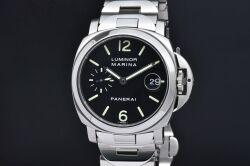 パネライ PAM00050 ルミノール マリーナ 40mm メンズ SS/SS オートマ スモールセコンド E番 OP6560 黒文字盤