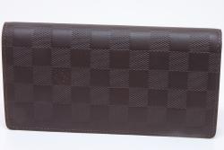 ヴィトン ダミエ アンフィニ ブラザ メンズ 長財布 メテオール N63120 【未使用】