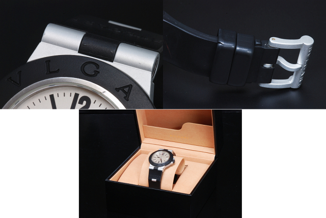 buy popular f05bd 1b55b ブルガリ AL38TA アルミニウム メンズ オートマチック