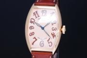 フランクミュラー トノーカーベックス カサブランカ サハラ 5850 SAHARA メンズ K18YG 無垢 オートマ サーモンピンク