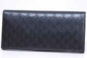 エンポリオ アルマーニ バーティカルウォレット 二つ折り長財布 レザー ブラック YEM474【新品】☆