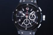 ウブロ HUBLOT ビッグバン ブラックマジック ブラックダイヤ 301.CV.130.RX.110 メンズ チタン セラミック オートマ 黒【正規品】