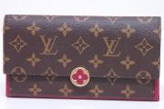 ヴィトン モノグラム ポルトフォイユ フロール 二つ折り長財布 フューシャ M64585【新品】