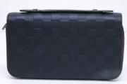ヴィトン ダミエ アンフィニ ジッピーXL ラウンドファスナー財布 オニキス N61254【新品同様】