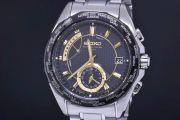 セイコー SAGA033 ブライツ ワールドタイム メンズ チタン ソーラー電波時計 8B53 黒文字盤【正規品】