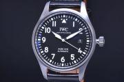 IWC シャフハウゼン IW327001 パイロットウォッチ マーク18 メンズ SS/レザー オートマ 30110 黒文字盤【正規品】