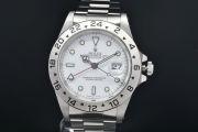 ロレックス エクスプローラー2 16570 メンズ GMT SS オートマ EX2 白文字盤 トリチウム U番【OH済】