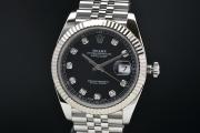 ロレックス 126334G オイスターパーペチュアル デイトジャスト41 メンズ SS/WG オートマ 10Pダイヤ 黒文字盤 ランダム【正規品】