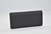 ダンヒル シャーシ カーボン レザー 二つ折り長財布 ブラック ダークブラウン L2A210A【正規・未使用】