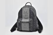 MCM ヴィセトス MCMロゴ バックパック デイパック リュック ブラック MMK 7AVE23 BK001【新品同様】☆