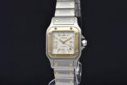 カルティエ W20045C4 サントスガルベ SM レディース SS/YG オートマ 2423 ゴールドローマシルバー文字盤【OH済】