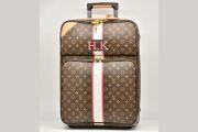 ヴィトン モノグラム ペガス55 ビジネス キャリーバッグ 旅行カバン スーツケース トロリー ストライプペイント