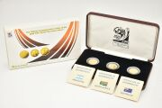2010 FIFA ワールドカップ サッカー W杯 南アフリカ大会 記念コイン 金貨 3種セット 純金 プルーフ金貨