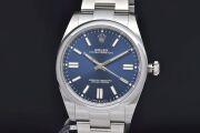ロレックス 124300 オイスターパーペチュアル 41 メンズ SS オートマ ブライトブルー文字盤 ランダム【新品同様】