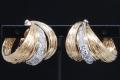 ヴァンクリーフ&アーペル K18YG K18WG  2カラー ダイヤモンド1.82ct イヤリング