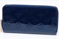 ヴィトン モノグラム ヴェルニ ジッピーウォレット ラウンドファスナー長財布 グランブルー M90047