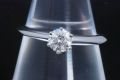 ティファニー ソリティア ダイヤモンド リング PT950 ダイヤ 0.35ct G-VS1-VG【鑑定書付】