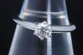 ティファニー ソリティア ダイヤモンド リング PT950 ダイヤ 0.37ct H-VS2-EX【鑑定書付】