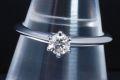 ティファニー ソリティア ダイヤモンド リング PT950 ダイヤ 0.25ct E-VVS1-EX【鑑定書付】
