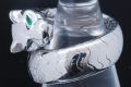カルティエ パンテール ドゥ カルティエ パンサー リング K18WG ダイヤ エメラルド オニキス  #54