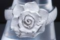 田村俊一 Shun K18WG ホワイトゴールド ダイヤモンド 0.04ct ローズ 薔薇 フラワー リング 指輪【美品】