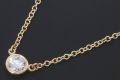 ティファニー ダイヤモンド バイザヤード ペンダント ネックレス K18YG イエローゴールド ダイヤ 0.14ct【正規品・美品】