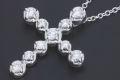 ティファニー パロマピカソ テンダネス クロス ペンダント ネックレス K18WG ホワイトゴールド ダイヤモンド【新品同様】