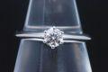 ティファニー ソリティア ダイヤモンド リング PT950 プラチナ ダイヤ 0.24ct F-VVS2-VG【鑑定書付】