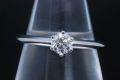 ティファニー ソリティア ダイヤモンド リング PT950 プラチナ ダイヤ 0.26ct E-VVS2-G【鑑定書付】